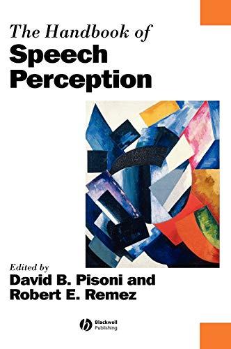 9780631229278: The Handbook of Speech Perception (Blackwell Handbooks in Linguistics)