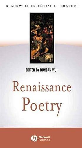 9780631230090: Renaissance Poetry (Blackwell Essential Literature)