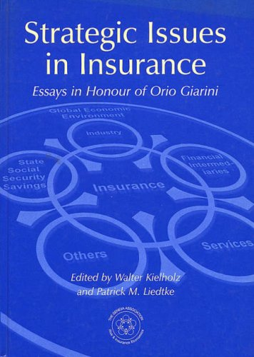 9780631231264: Strategic Issues in Insurance: Essays in Honour of Orio Giarini