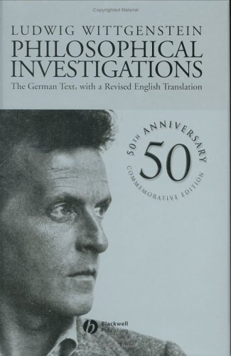 9780631231271: Philosophical Investigations: The German Text, with a Revised English Translation 50th Anniversary Commemorative Edition