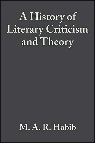 9780631232001: A History of Literary Criticism and Theory: From Plato to the Present