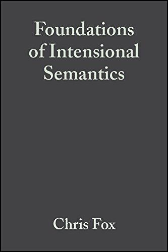 Foundations of Intensional Semantics: Chris Fox, Shalom