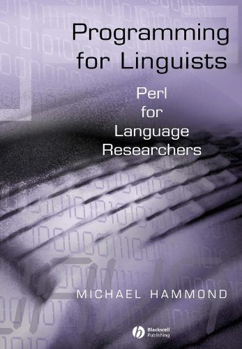 9780631234333: Programming for Linguists: Perl for Language Researchers