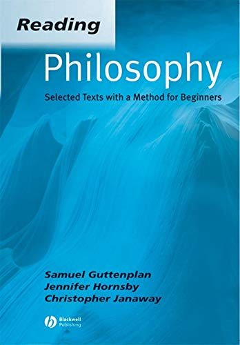 9780631234388: Reading Philosophy: Selected Texts with a Method for Beginners