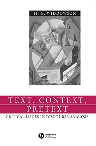 9780631234524: Text Context Pretext: Critical Issues in Discourse Analysis (Language in Society)
