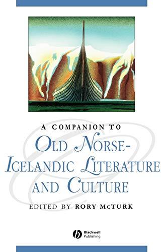 9780631235026: A Companion to Old Norse-Icelandic Literature and Culture (Blackwell Companions to Literature and Culture)