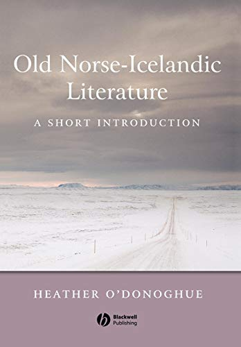 9780631236252: Old Norse-Icelandic Literature: A Short Introduction (Wiley Blackwell Introductions to Literature)