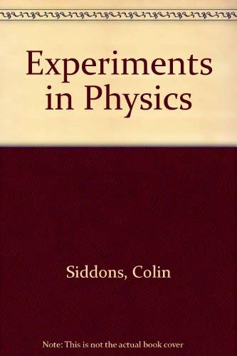 9780631900696: Experiments in Physics