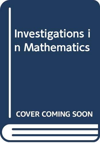 9780631909804: Investigations in Mathematics