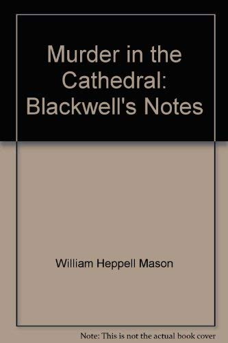 9780631975403: Murder in the Cathedral: Blackwell's Notes