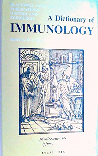 9780632001354: A dictionary of immunology