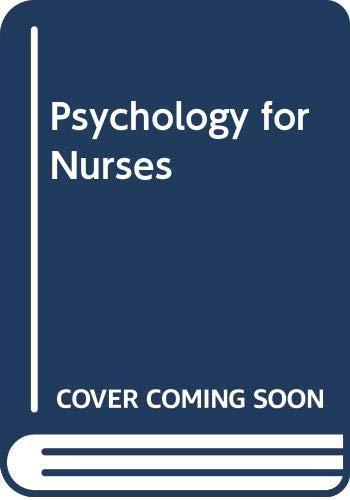 9780632004393: Psychology for Nurses