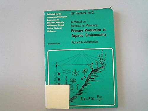 Manual on Methods for Measuring Primary Production