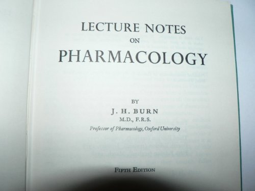 9780632005413: Lecture notes on pharmacology
