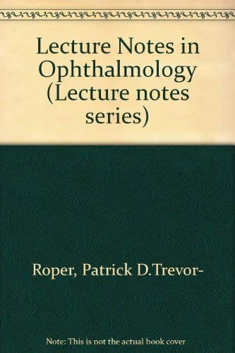 9780632005819: Lecture Notes in Ophthalmology (Lecture notes series)