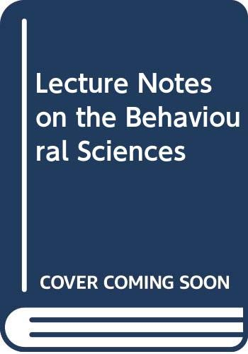 9780632009671: Lecture Notes on the Behavioural Sciences