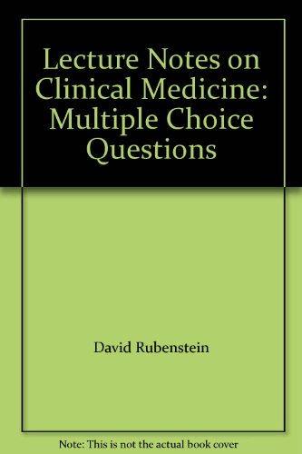 9780632009763: Lecture Notes on Clinical Medicine: Multiple Choice Questions