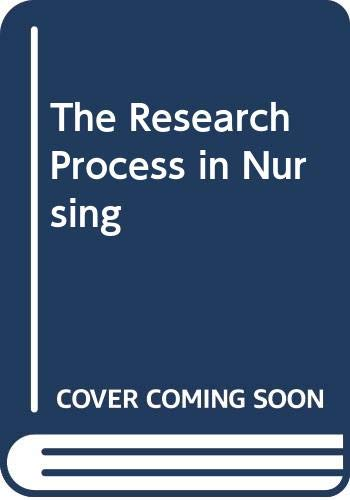 9780632010134: The Research Process in Nursing