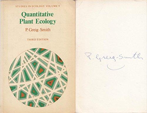 QUANTITATIVE PLANT ECOLOGY (STUDIES ECOLOGY): P. GREIG SMITH
