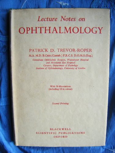 9780632015856: Lecture Notes on Ophthalmology