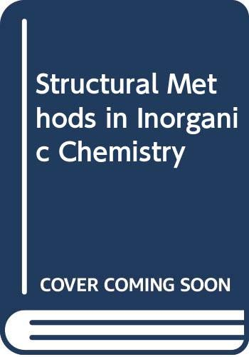 9780632016037: Structural Methods in Inorganic Chemistry