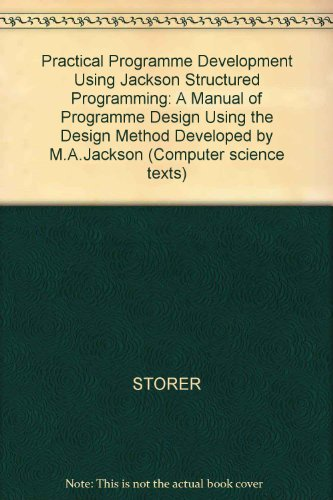 9780632016990: Practical Programme Development Using Jackson Structured Programming: A Manual of Programme Design Using the Design Method Developed by M.A.Jackson