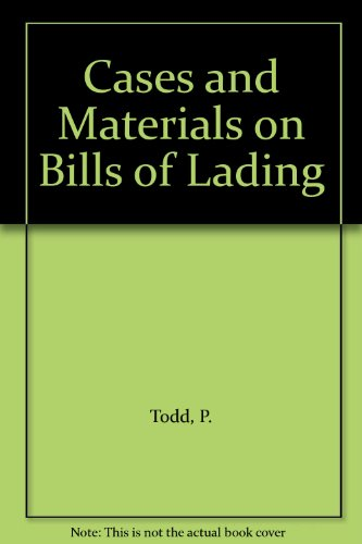 9780632018574: Cases and Materials on Bills of Lading