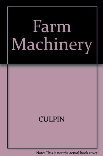 9780632021390: Farm Machinery