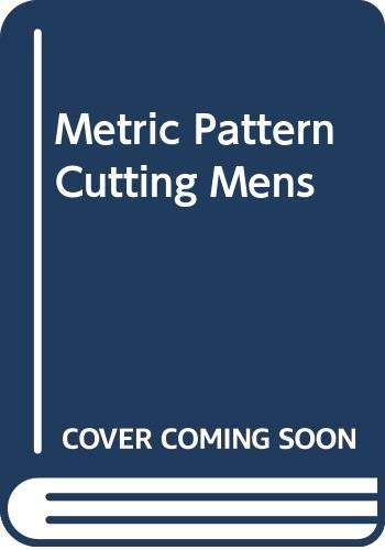 Metric Pattern Cutting Mens (0632022140) by Winifred Aldrich