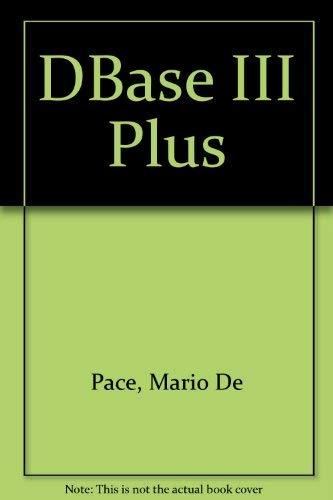 9780632022458: dBase III Plus