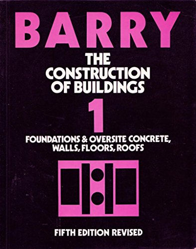 9780632026159: The Construction of Buildings: v. 1