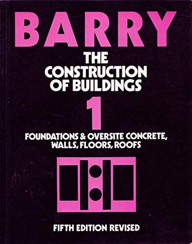 9780632026159: The Construction of Buildings