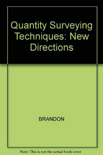 9780632026821: Quantity Surveying Techniques: New Directions