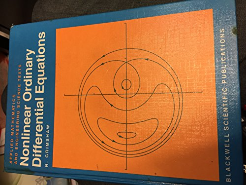 9780632027088: Nonlinear Ordinary Differential Equations (Applied Mathematics and Engineering Science Texts)
