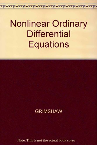 9780632027095: Nonlinear Ordinary Differential Equations