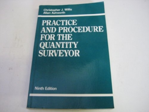 9780632029327: Practice and Procedure for the Quantity Surveyor