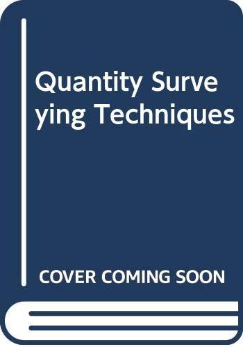 9780632032976: Quantity Surveying Techniques