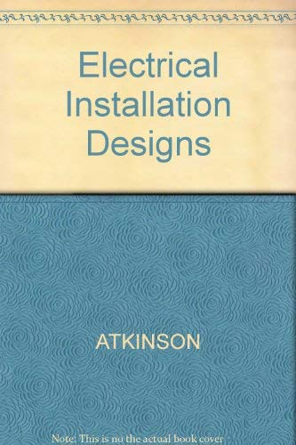 9780632037032: Electrical Installation Designs
