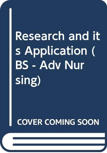 Research and Its Application (BS - Adv: Wiley-Blackwell