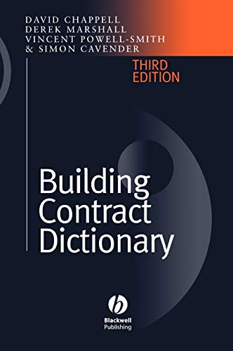 9780632039647: Building Contract Dictionary 3e