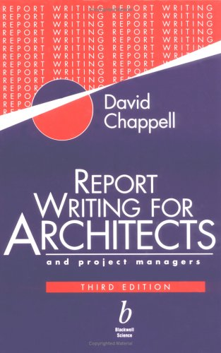 9780632040018: Report Writing for Architects and Project Managers