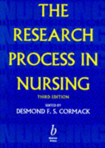 9780632040193: The Research Process in Nursing