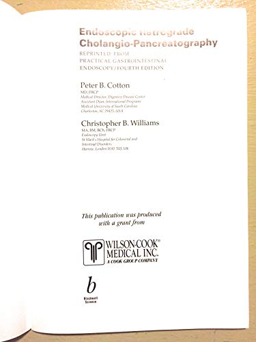 Endoscopic Retrograde Cholangio Pancreatography: Williams, Christopher; Cotton, D.
