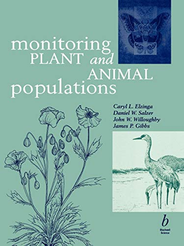 9780632044429: Monitoring Plant and Animal Populations