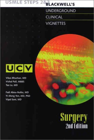 9780632045754: Underground Clinical Vignettes: Surgery, Classic Clinical Cases for USMLE Step 2 and Clerkship Review