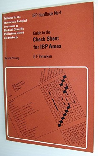 Guide to the checksheet for IBP areas;: Peterken, G. F