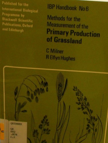 9780632051007: Methods for the Measurement of the Primary Production of Grassland (International Biological Programme)