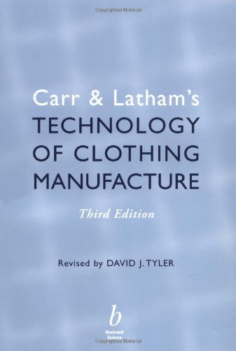 9780632052486: Carr and Latham's Technology of Clothing Manufacture