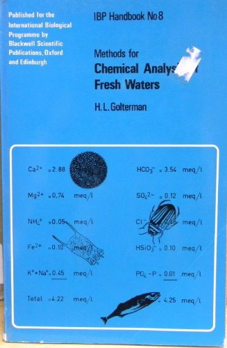 Methods for chemical analysis of fresh waters;: H. L Golterman