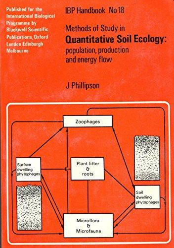 Methods of study in quantitative soil ecology: Phillipson, John